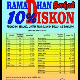 Promo    Berkah Ramadhan ATOZ  Beton instan dan Mortar
